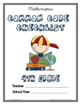 Common Core Checklist - 4th Grade - ELA & MATH