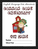 Common Core Checklist - 4th Grade - ELA - POLKA DOT EDITION