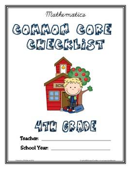 Common Core Checklist - 4th Grade - MATH