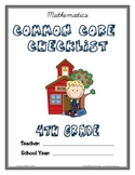 Common Core Checklist - 4th Grade - MATH