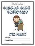 Common Core Checklist - 5th Grade - MATH