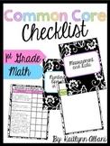 Common Core Checklist Binder - First Grade - Math