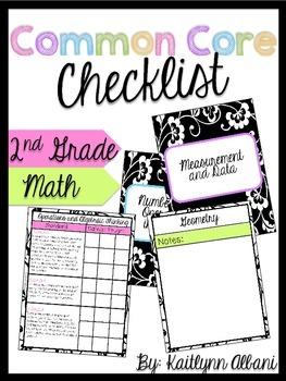 Common Core Checklist Binder - Second Grade - Math