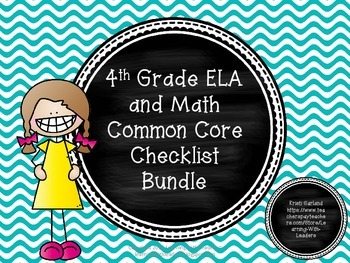 Common Core Checklist Bundle (ELA and Math)