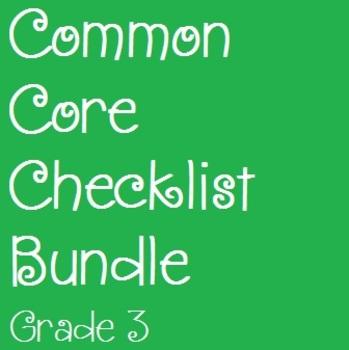 Common Core Checklist Bundle - Grade 3