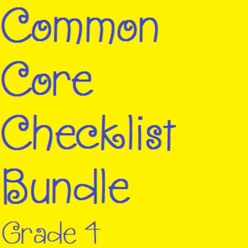 Common Core Checklist Bundle - Grade 4