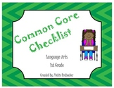 Common Core Checklist ELA - First Grade