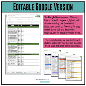 Grade 2 ELA Common Core Checklist