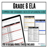 Grade 6 ELA Common Core Checklist