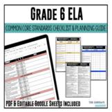 Grade 6 ELA Common Core Checklist