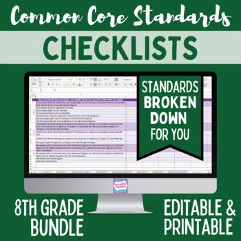 Common Core Checklist - Eighth Grade