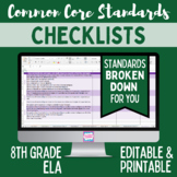 Common Core Checklist - Eighth Grade ELA