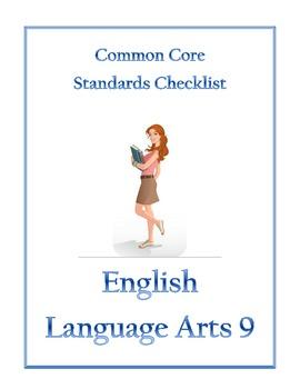 Common Core Checklist English Language Arts 9 (and 10)