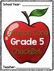 Common Core Checklist: Grade 5