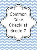 Common Core Checklist Grade 7 {FREEBIE}