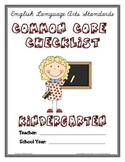 Common Core Checklist - Kindergarten - ELA