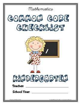 Common Core Checklist - Kindergarten - MATH