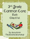 Common Core Checklist & Math Practices - Grade 3 (The Walshie Workshop)