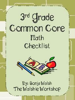 Common Core Checklist & Math Practices - Grade 3 (The Wals