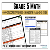 Grade 5 Math Common Core Checklist