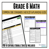 Grade 6 Math Common Core Checklist