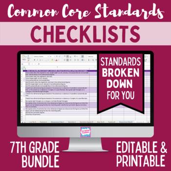 Common Core Checklist - Seventh Grade
