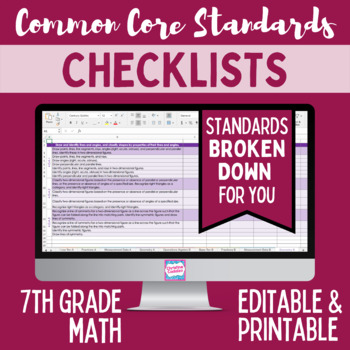 Common Core Checklist - Seventh Grade Math