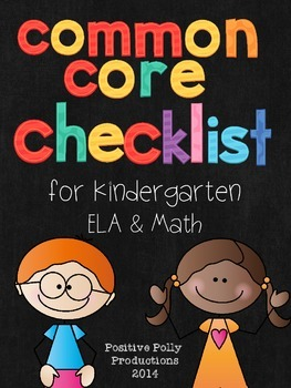 Common Core Checklist for Kindergarten (ELA and Math)