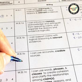 ELA Standards Checklist 8