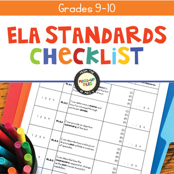 Common Core Checklist 9th - 10th Grades ELA