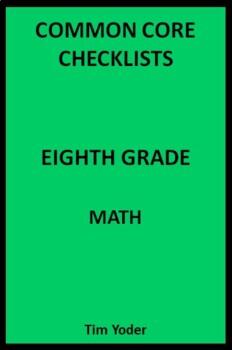 Common Core Checklists – Eighth Grade Math