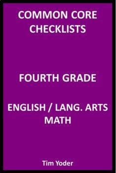Common Core Checklists – Fourth Grade English/Language Arts and Math