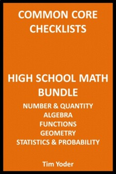 Common Core Checklists – High School Math Bundle – All Five Areas