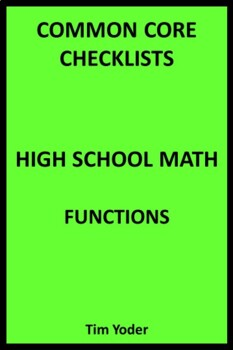 Common Core Checklists – High School Math – Functions
