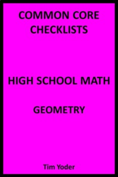 Common Core Checklists – High School Math – Geometry