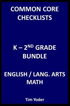 Common Core Checklists – K-2 Bundle - English/Language Art