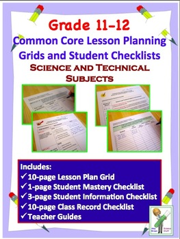 Common Core Checklists Science and Technical Standards for 11 - 12