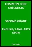Common Core Checklists – Second Grade English/Language Art