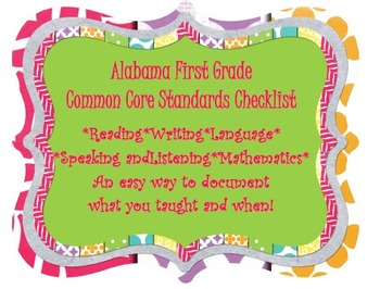 Common Core Checklists for First Grade ELA and Mathematics