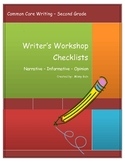 Common Core Checklists for Narrative Informative and Opinion Writing