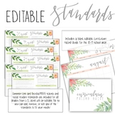 Editable Common Core Standards Checklists for grades K-5