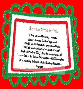Common Core Christmas Carols