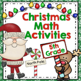 5th Grade Christmas Math - 5th Grade Christmas Math Games and Centers