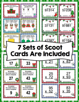 4th Grade Christmas Math - 4th Grade Christmas Math Games and Centers