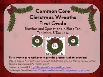 Common Core Christmas Wreaths 1st Grade Math