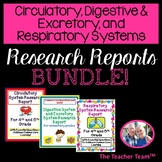 Circulatory System, Digestive System, Respiratory System |  Report Bundle