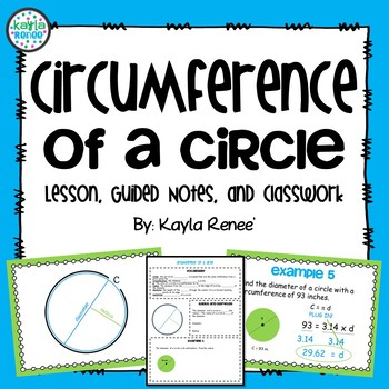 Common Core Circumference Lesson with Guided Notes and Cla