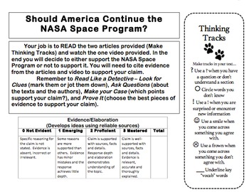 Common Core Citing Evidence for NASA