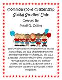 Common Core Citizenship Social Studies' Unit for Second Grade