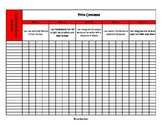 Common Core Class Chart Kinder Reading